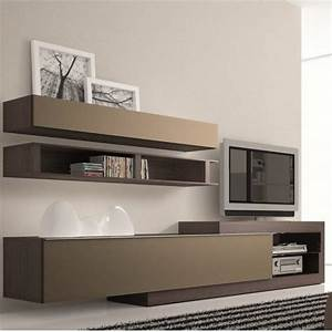 meuble tv design taupe neva atylia meuble tv design With meuble sejour design contemporain 1 le meuble suspendu de salon decore et modernise le salon