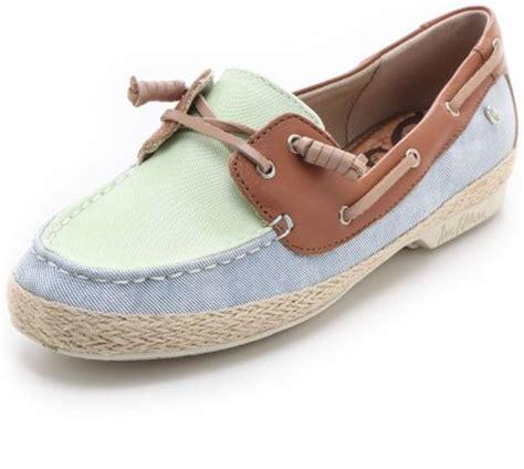 Sam Edelman Boat Shoes by Sam Edelman Sebastian Boat Shoes In Blue Denim Lyst