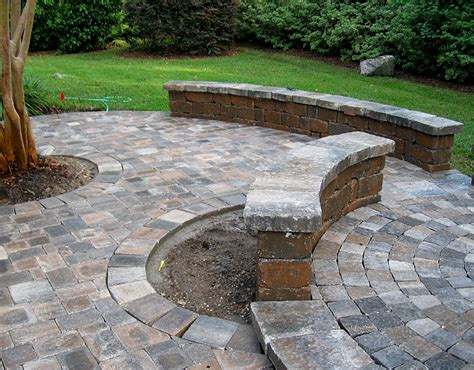 Patio Construction by Hardscape Package 4 Brick Paver Patio Pergola Firepit