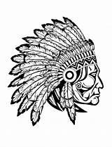 Coloring Indian Cherokee Popular sketch template