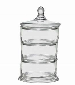 Boite En Verre Avec Couvercle : bonbonni re en verre 3 tages avec couvercle ~ Teatrodelosmanantiales.com Idées de Décoration