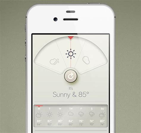 iphone weather app braun inspired iphone weather app