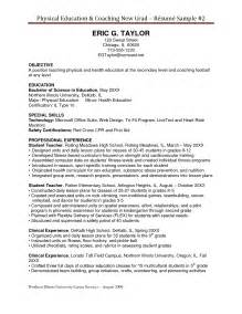 Coaching Resume Objective by How To Write A Coaching Resume Sles Of Resumes
