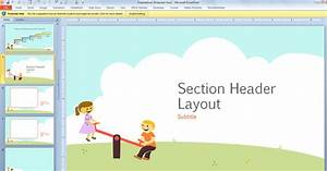 free children powerpoint template with cartoons for With kid friendly powerpoint templates