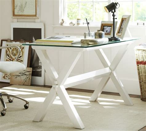 pottery barn table ls glass wood desk antique white pottery barn office