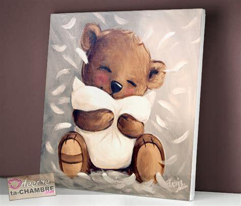 decore ta chambre tableau ourson tendresse vente tableau ourson pour