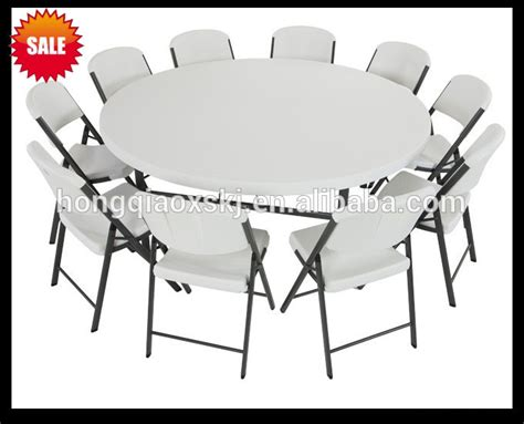 6 foot round table top 6ft plastic folding round table banquet folding table big
