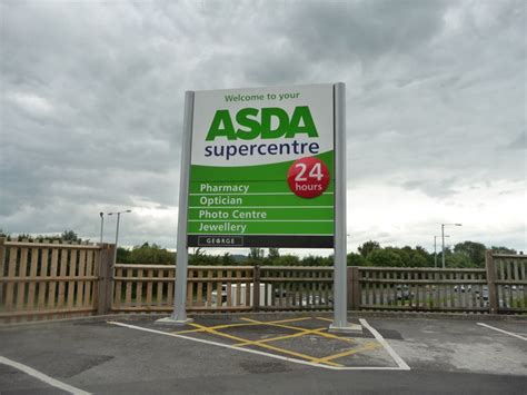 Asda Supercentre Sign (c) Lewis Clarke