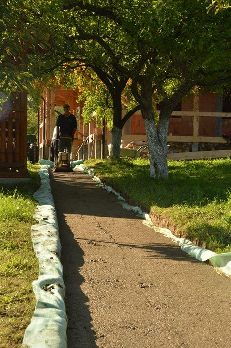 acacia wood slices   rustic garden path home design