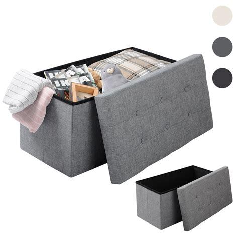 coffre siege rangement banc ottomane pouf tabouret pliable coffre de rangement siège banquette f204 ebay