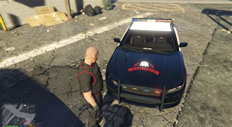 merryweather security dodge charger skin gta modscom