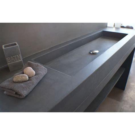 la cuisine de reference meuble salle de bains et vasque beton 160x50cm unnik béton