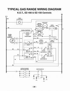 Typical Gas Range Wiring Diagram  L1 N