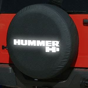 hummer  soft spare tire cover  reflective logo