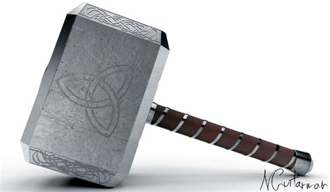 mjolnir thor 39 s hammer step iges 3d cad model grabcad
