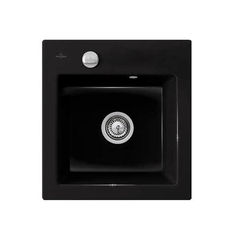 evier cuisine 2 bacs évier en céramique noir brillant villeroy boch de la