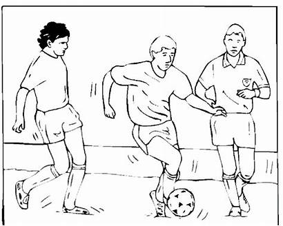 Soccer Coloring Printable Pages Team Field Player