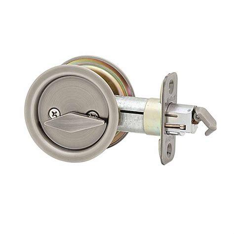 pocket door lock kwikset antique nickel bed bath pocket door lock 335