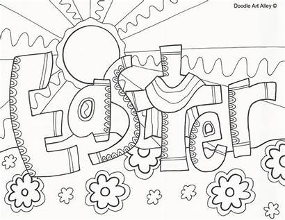 Easter Coloring Pages Sunday Printable Religious Sheets