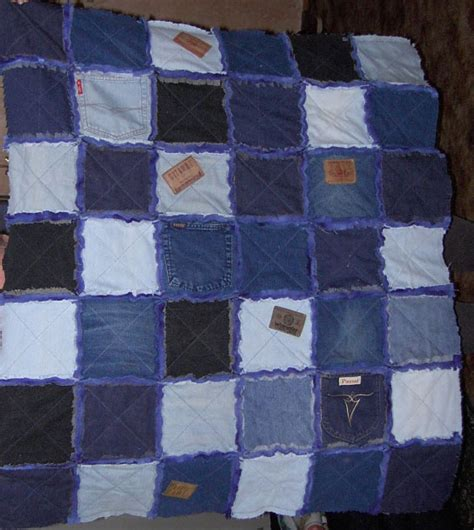 blue jean quilt rag quilts made with blue