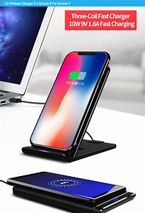 Ultra Thin Foldable 3 Coils Quick Charging Qi Wireless