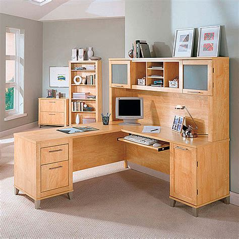 bush somerset desk with hutch bush somerset 71 quot l shaped desk with hutch maple cross