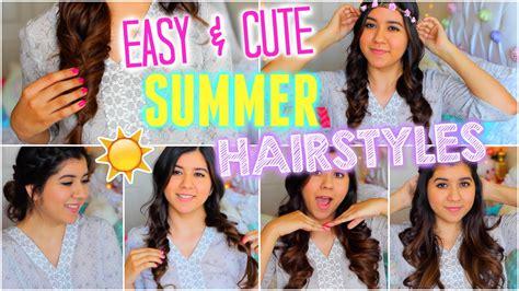 Easy & Cute Heatless Summer Hairstyles!!