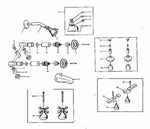 Kenmore Combination Tub And Shower Faucet Parts
