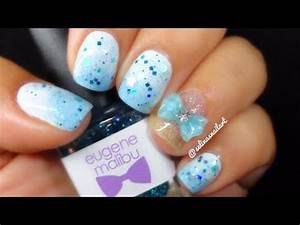 Simple Baby Blue Nail Art - YouTube