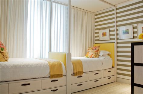 Yellow And Gray Striped Walls Design Ideas