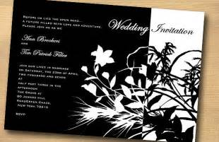 black and white wedding invitations flower design black and white wedding invitation trendy mods