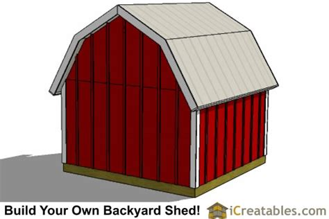 Gambrel Shed Plans 8x8 by 8x8 Gambrel Shed Plans 8 Shed Plans