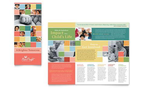 profit association  children brochure template design