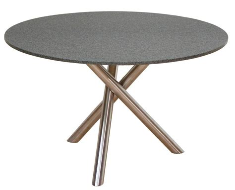 TUBO Gartentisch rund Granit Nero Africa 100 cm