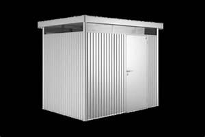 Gerätehaus Metall Flachdach : metall ger tehaus highline silber metallic gartencenter ~ Michelbontemps.com Haus und Dekorationen