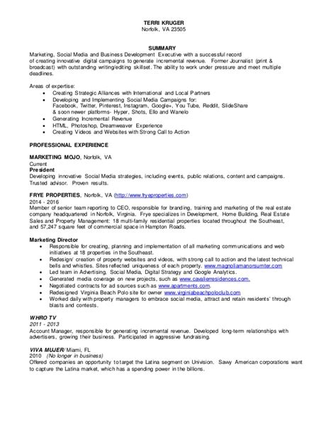 Resume Successful Track Record by Frances Kruger Resume