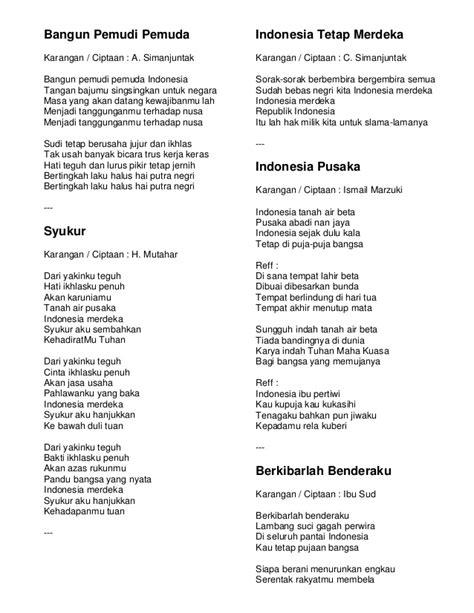 not pianika bangun pemuda pemudi satu nusa satu bangsa lagu wajib nasional 97327588 kumpulan lirik lagu wajib nasional