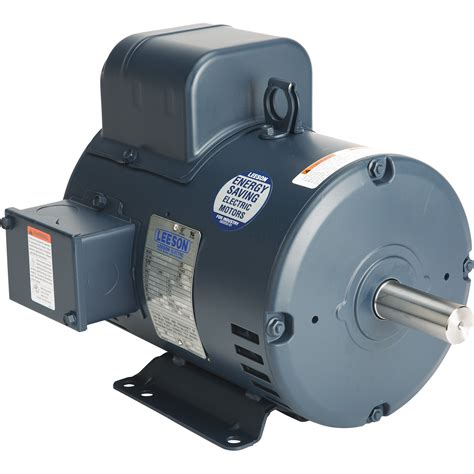Reversible Electric Motor by Leeson Reversible Electric Motor 5 Hp 3450 Rpm 208 230
