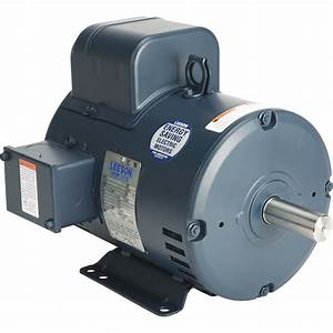 Leeson Reversible Electric Motor  U2014 5 Hp  3450 Rpm  208  230 Volts  Single Phase  Model  131616