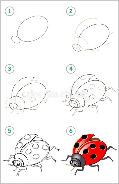 dessin  colorier dune coccinelle stylisee