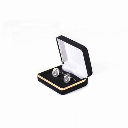 Cufflinks Silver Crested Pro Gold Royal Accessories