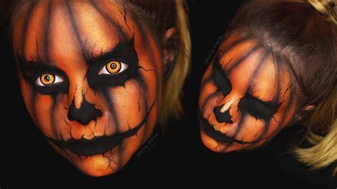 creepy halloween kuerbis makeup tutorial youtube