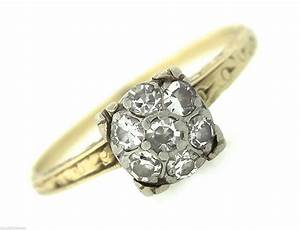 ladies antique victorian 14k yellow white gold 028ctw With victorian wedding rings vintage