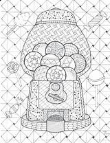 Coloring Pages Gumball Machine Bookmark Coded Zentangle Mystery Drawing Pdf Getcolorings Printable Bookmarks Getdrawings Poppy Col Flowers Colorings sketch template