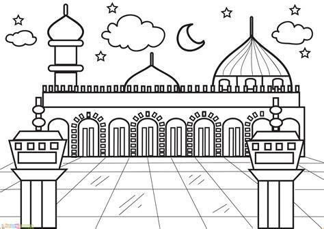cara mewarnai gradasi masjid