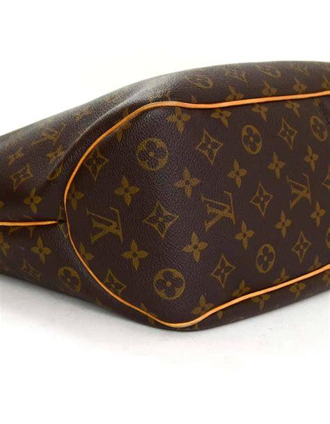 louis vuitton brown monogram delightful pm hobo  ghw