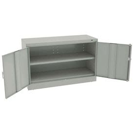 unfinished desk height cabinets cabinets wall mount counter height tennsco welded