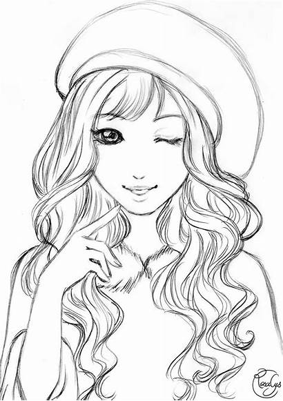 Coloring Pages Drawing Sketches Drawings Girly Desenhos