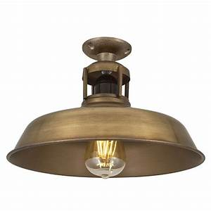barn slotted flush mount ceiling light industrial style With barn style ceiling lights