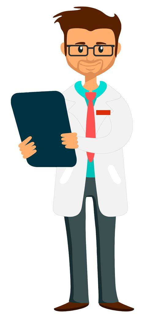 Clipart Doctor Clipart Doctor Holding Clipboard Fixed Arm And Whiter Coat